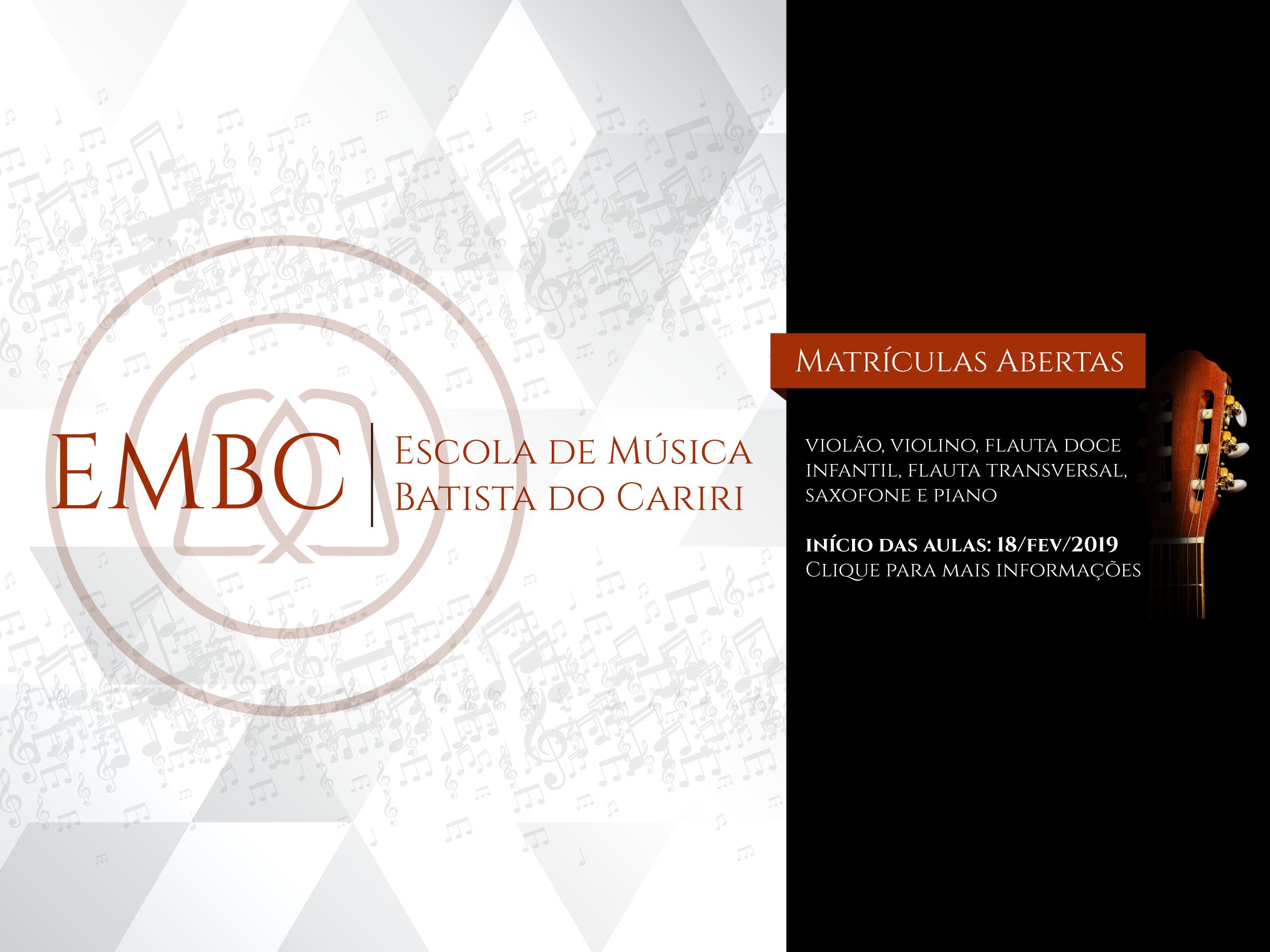 embc escola de música batista do cariri inscrições abertas